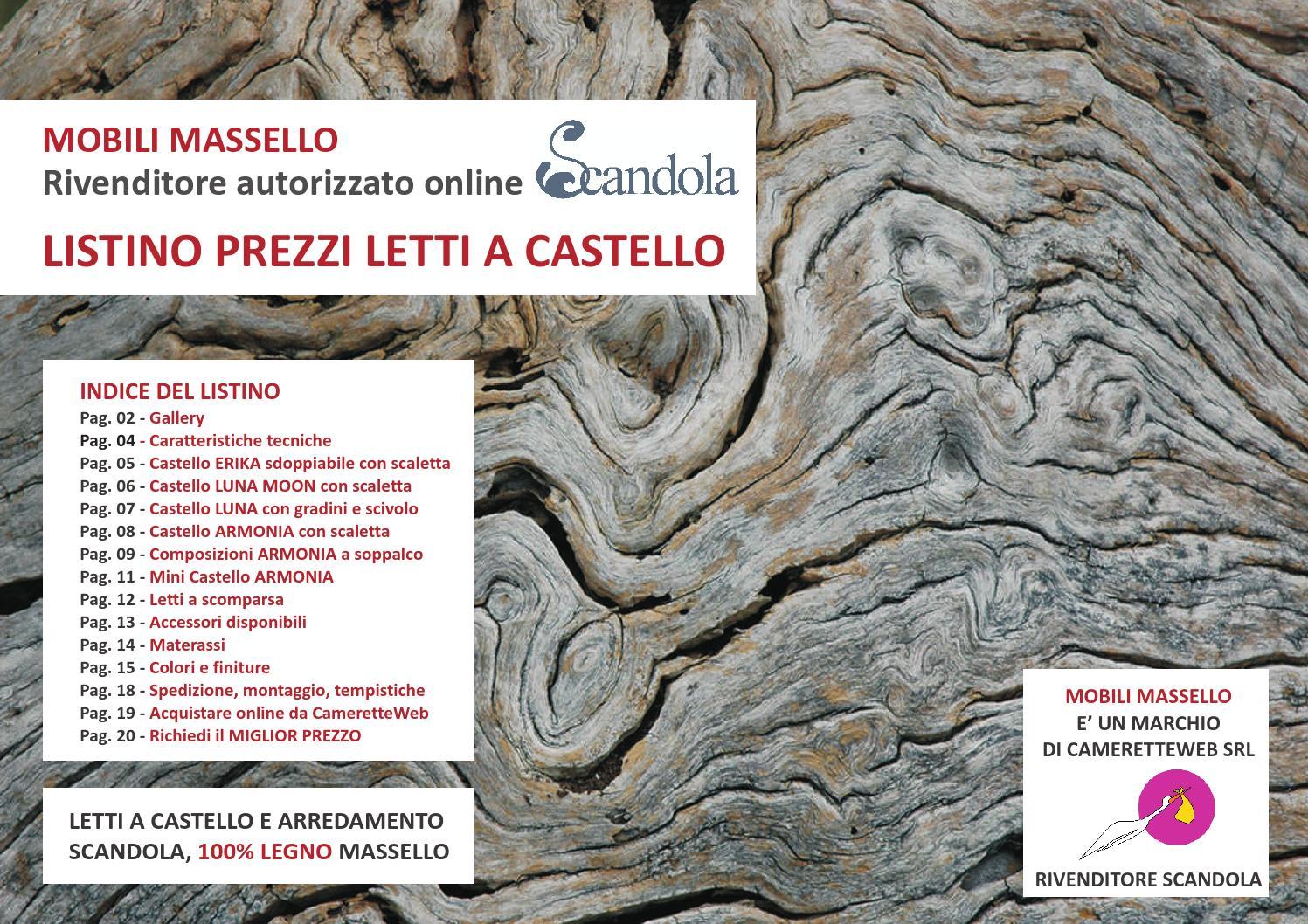 Letti a castello Scandola Mobili by MobiliMassello - issuu