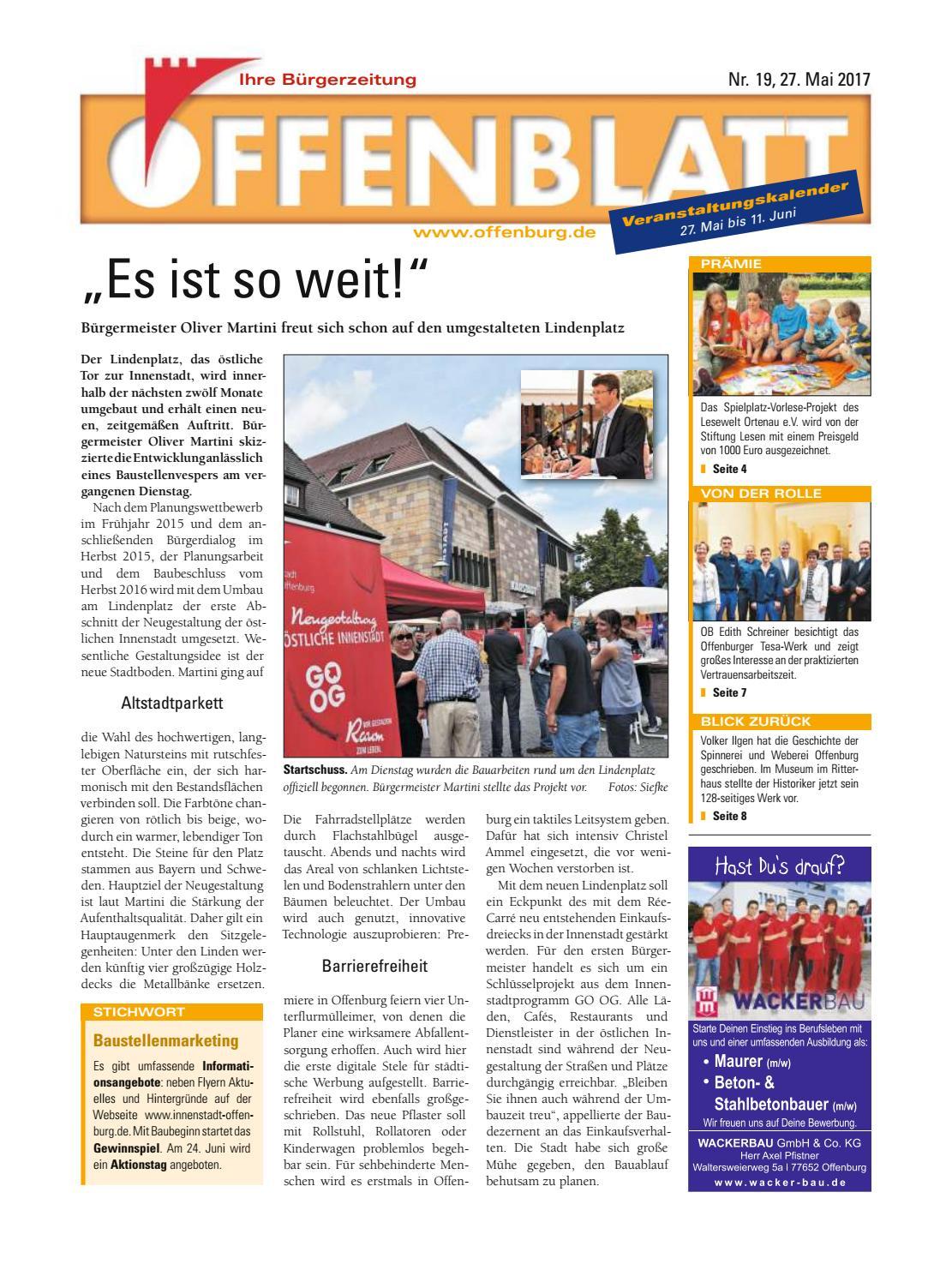 Screen offenblatt 19 2017 by Offenburg Offenblatt - issuu