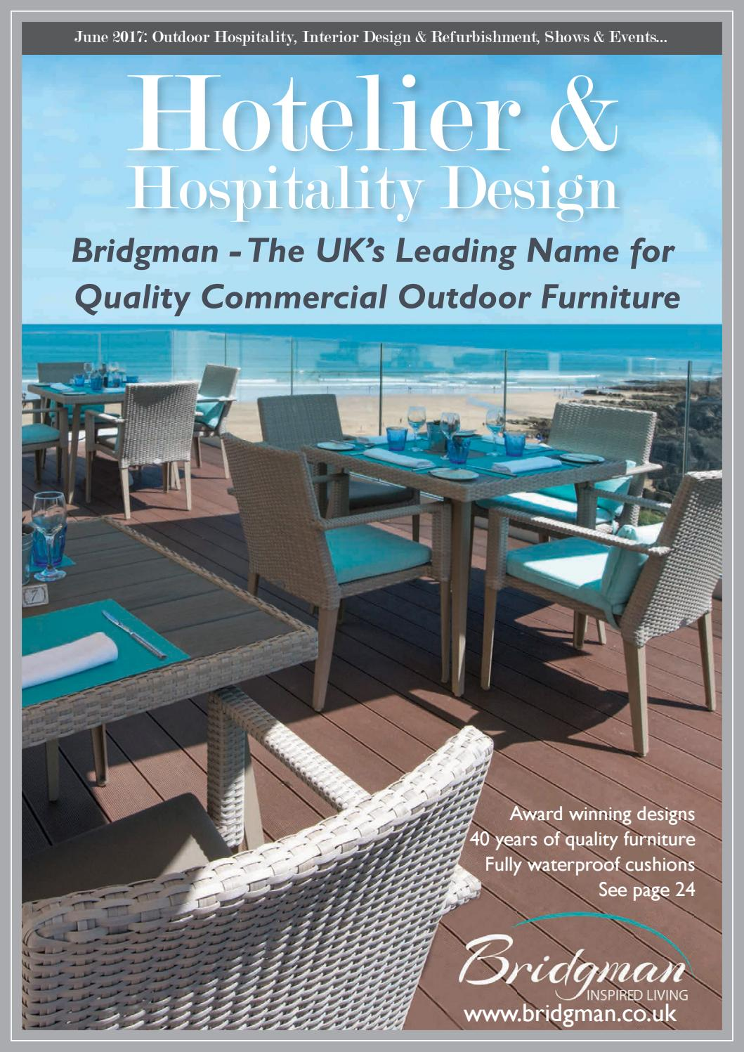 Stackable outdoor chairs lightweight peppermill interiors - Hotelier Hospitality Design June 2017 By Jet Digital Media Ltd Issuu