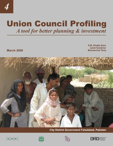 Union Council Profiling A tool for better planning