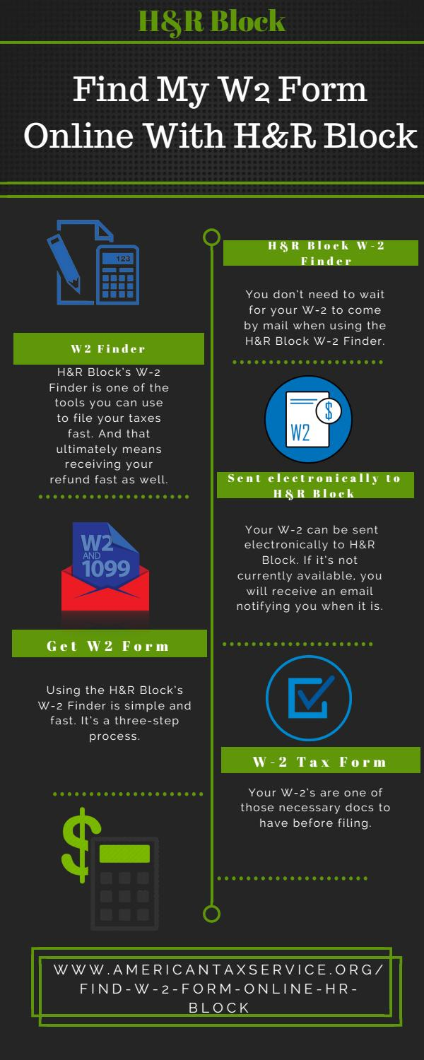 How to find my w2 form online with h&r block by Amelia Kelly
