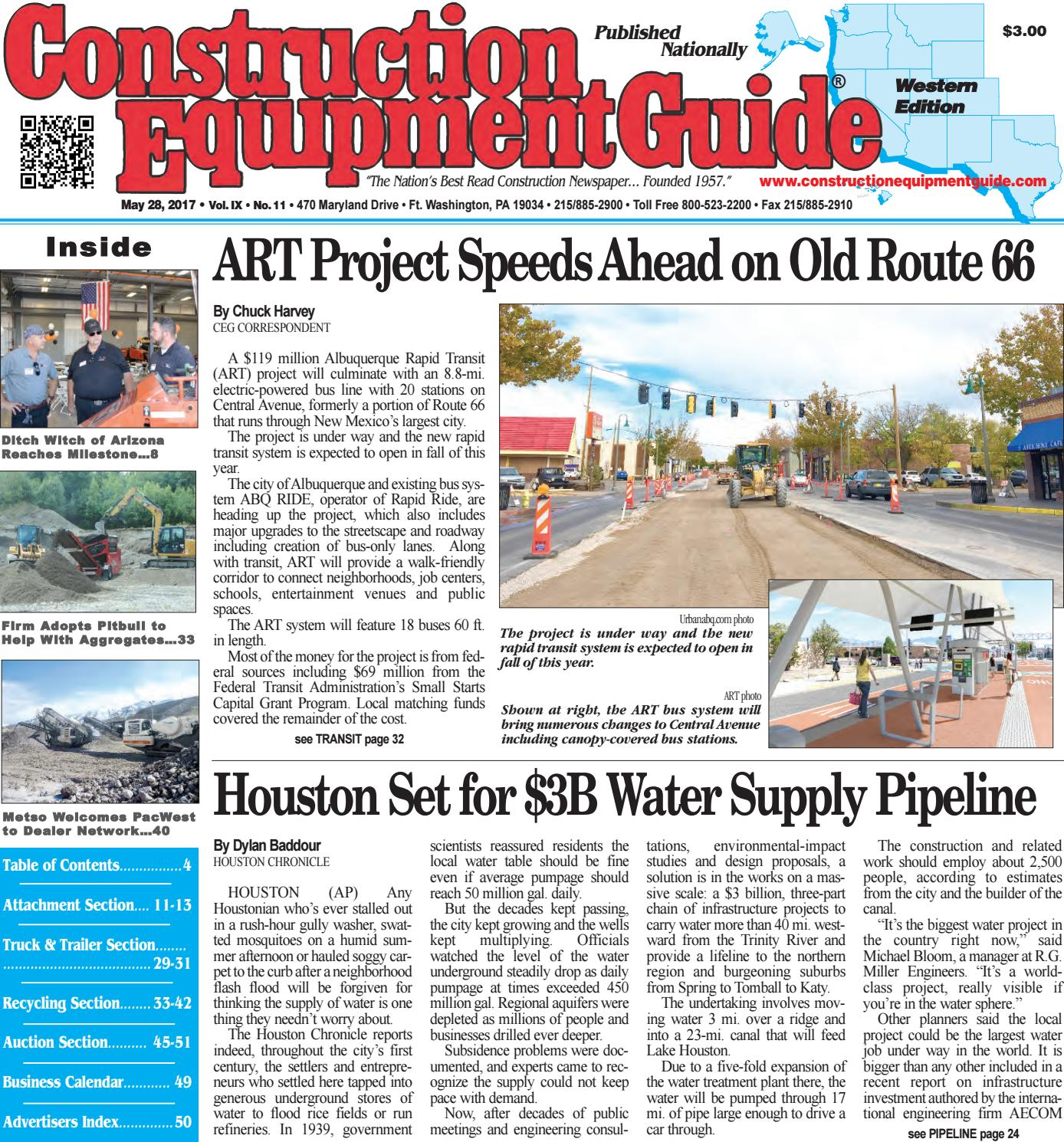 West 11 May 24, 2017 by Construction Equipment Guide - issuu