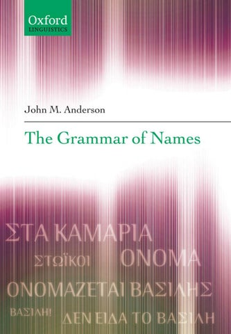 Anderson - The Grammar Of Names by Veacesav Filimon - issuu