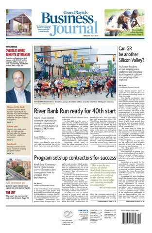 Grand Rapids Business Journal 050117 By Grand Rapids Business