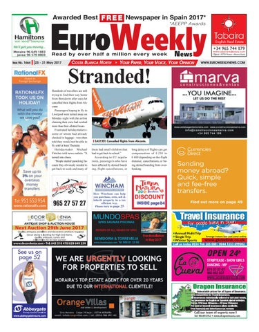 the latest 5ae01 7a5be Euro Weekly News - Costa Blanca North 25 - 31 May 2017 Issue