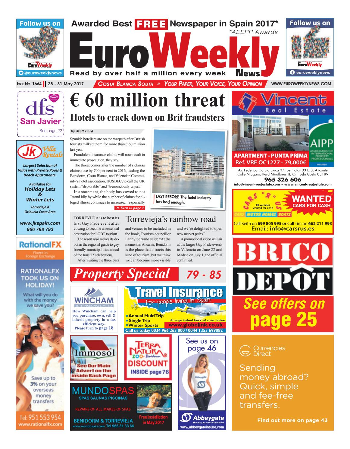 5c31f065651605 Euro Weekly News - Costa Blanca South 25 - 31 May 2017 Issue 1664 by ...