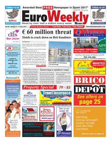 f04e716d2 Euro Weekly News - Costa Blanca South 25 - 31 May 2017 Issue 1664 by ...