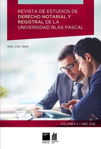Revista De Derecho Notarial Y Registral Iii By Universidad Blas