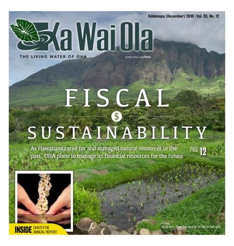 8c84b744cb KWO - December 2016 | Vol. 33, No. 12 by Ka Wai Ola o OHA - The ...