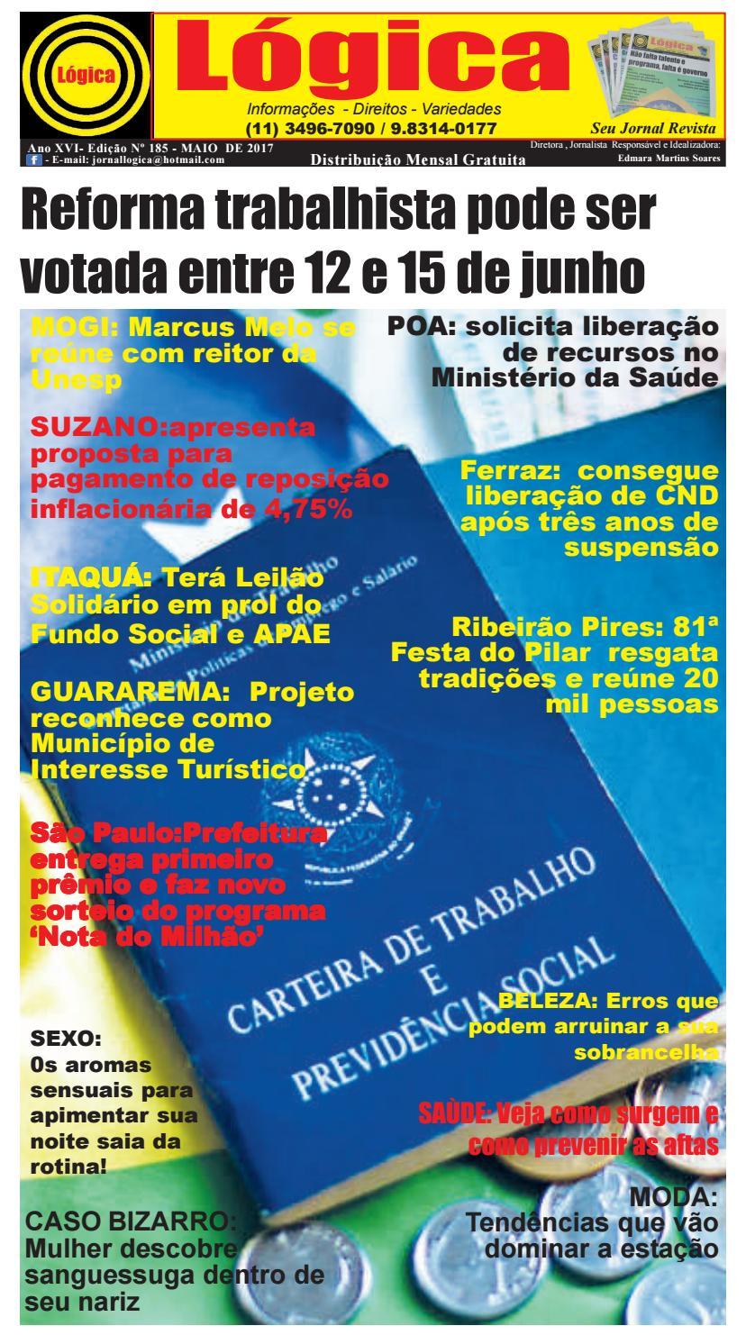 JORNAL LÓGICA MAIO 2017 - Ed 185 by fabiodoll - issuu 64f70b4965