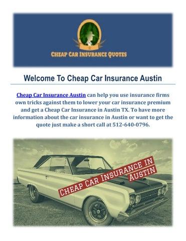 Cheap Car Insurance Quotes In Austin Tx By Cheap Car Insurance