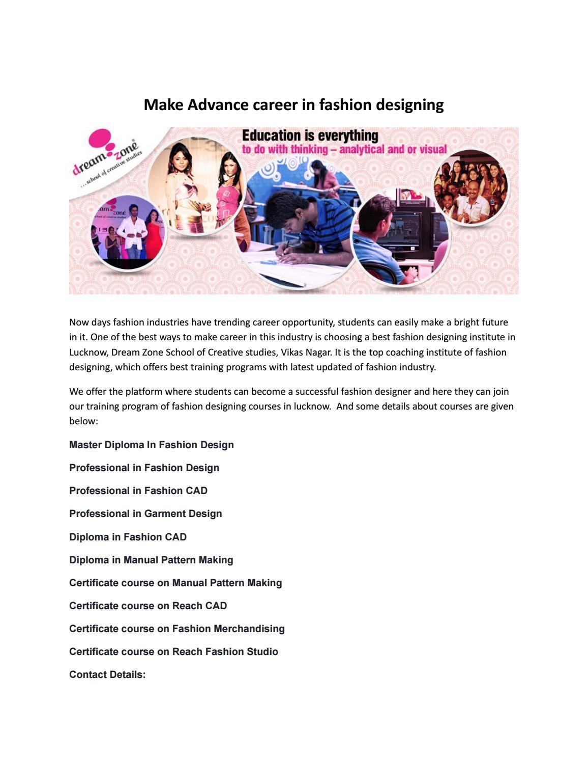 Dream Zone Vikas Nagar Lucknow Fashion Interior Graphics Designing Institute By Dreamzone Issuu