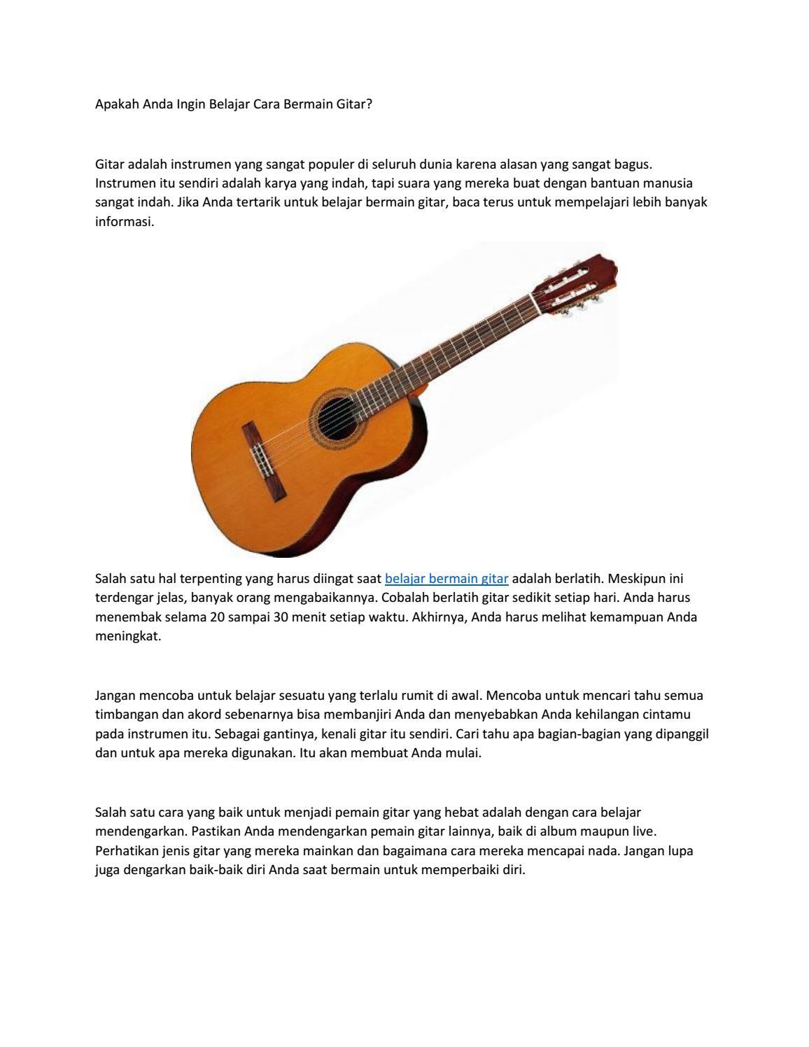 Apakah Anda Ingin Belajar Cara Bermain Gitar By Armandina Garry Issuu
