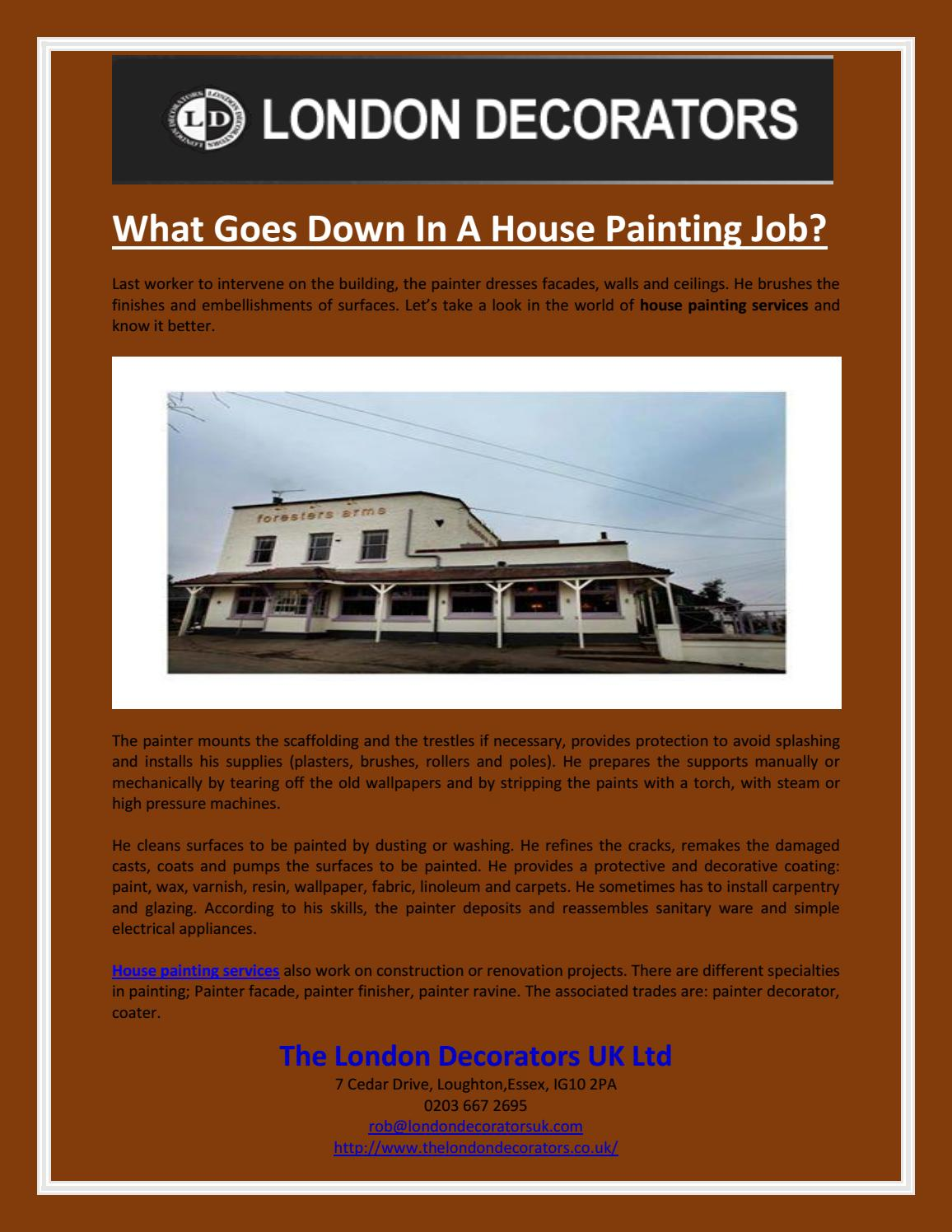What Goes Down In A House Painting Job By The London Decorators Uk
