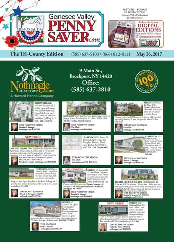 c5e92a2eac The Genesee Valley Penny Saver Tri-County Edition 5/26/17 by Genesee ...