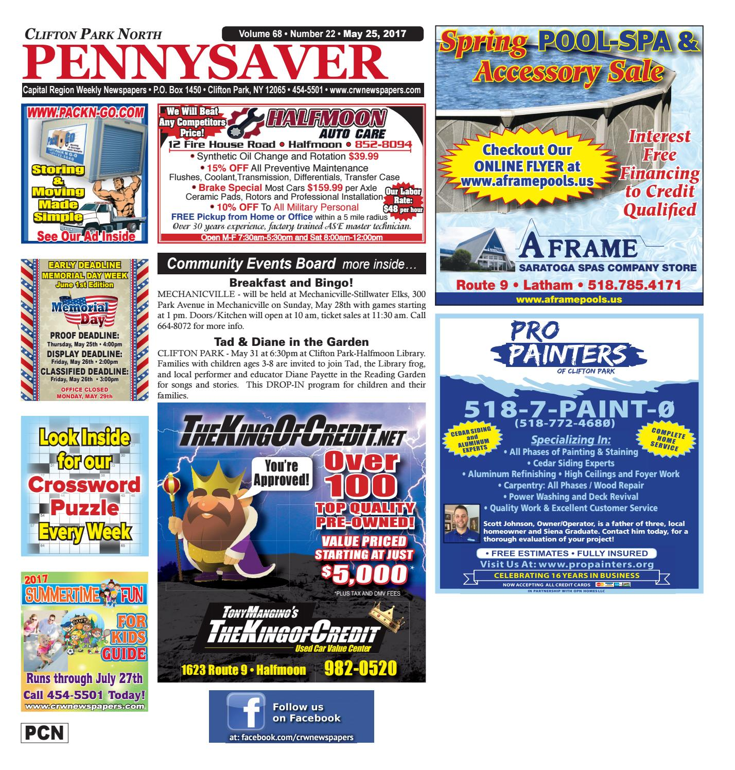 Clifton Park North Pennysaver 052517 By Capital Region Weekly Newspapers Issuu