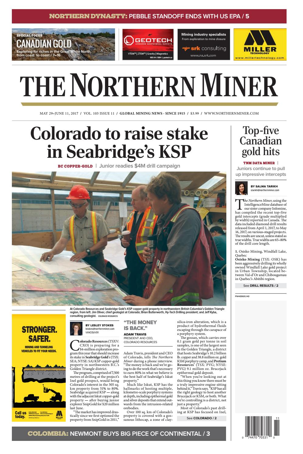 187 Niocorp Drilling Update >> The Northern Miner May 29 2017 Issue By The Northern Miner Group Issuu