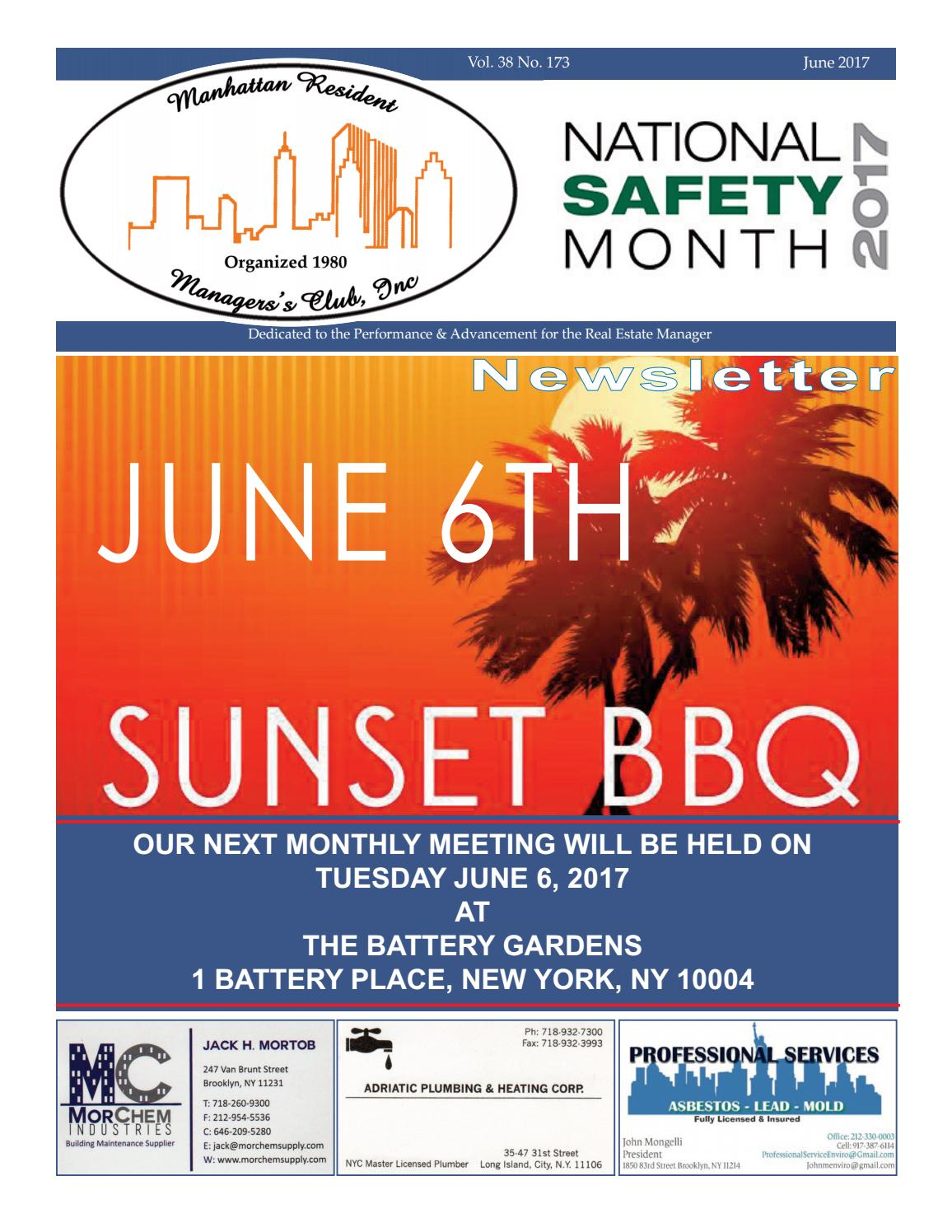 Manhattan Resident Managers Club Newsletter-JUNE 2017 by AMG NY - issuu