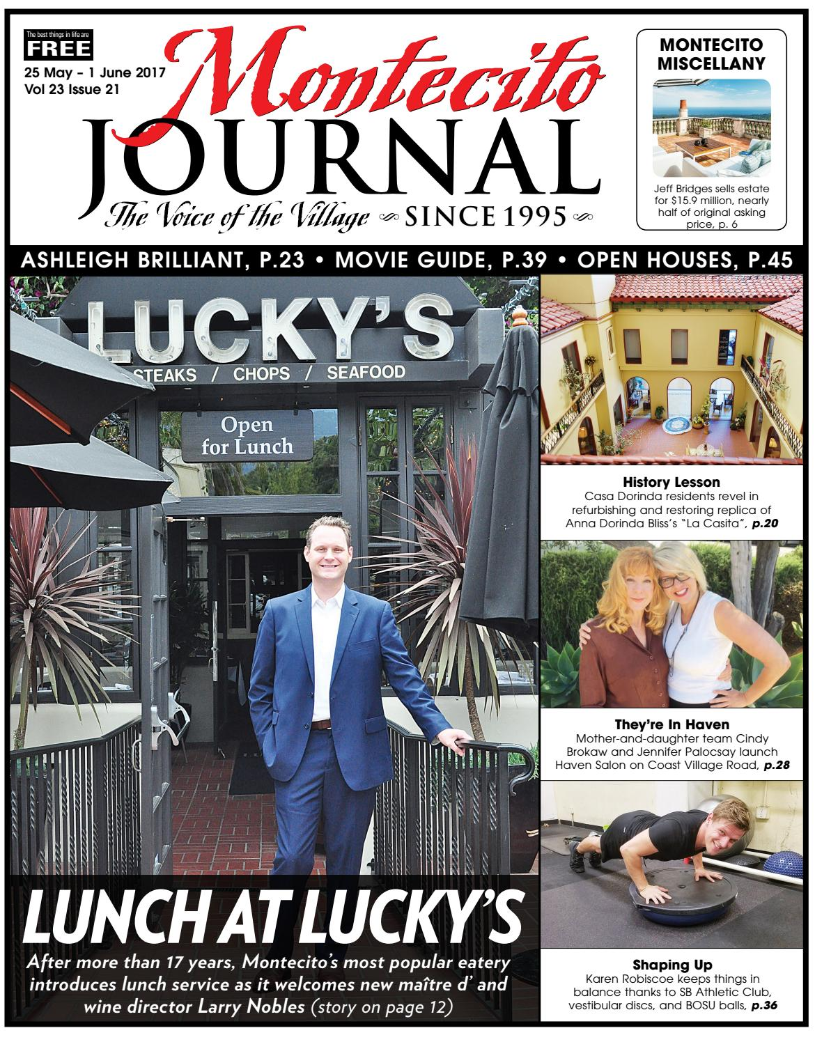 Lunch at Lucky's by Montecito Journal - issuu