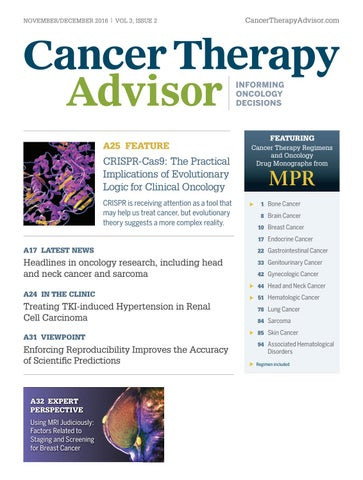 cancer therapy advisor november december 2016 issue by haymarket