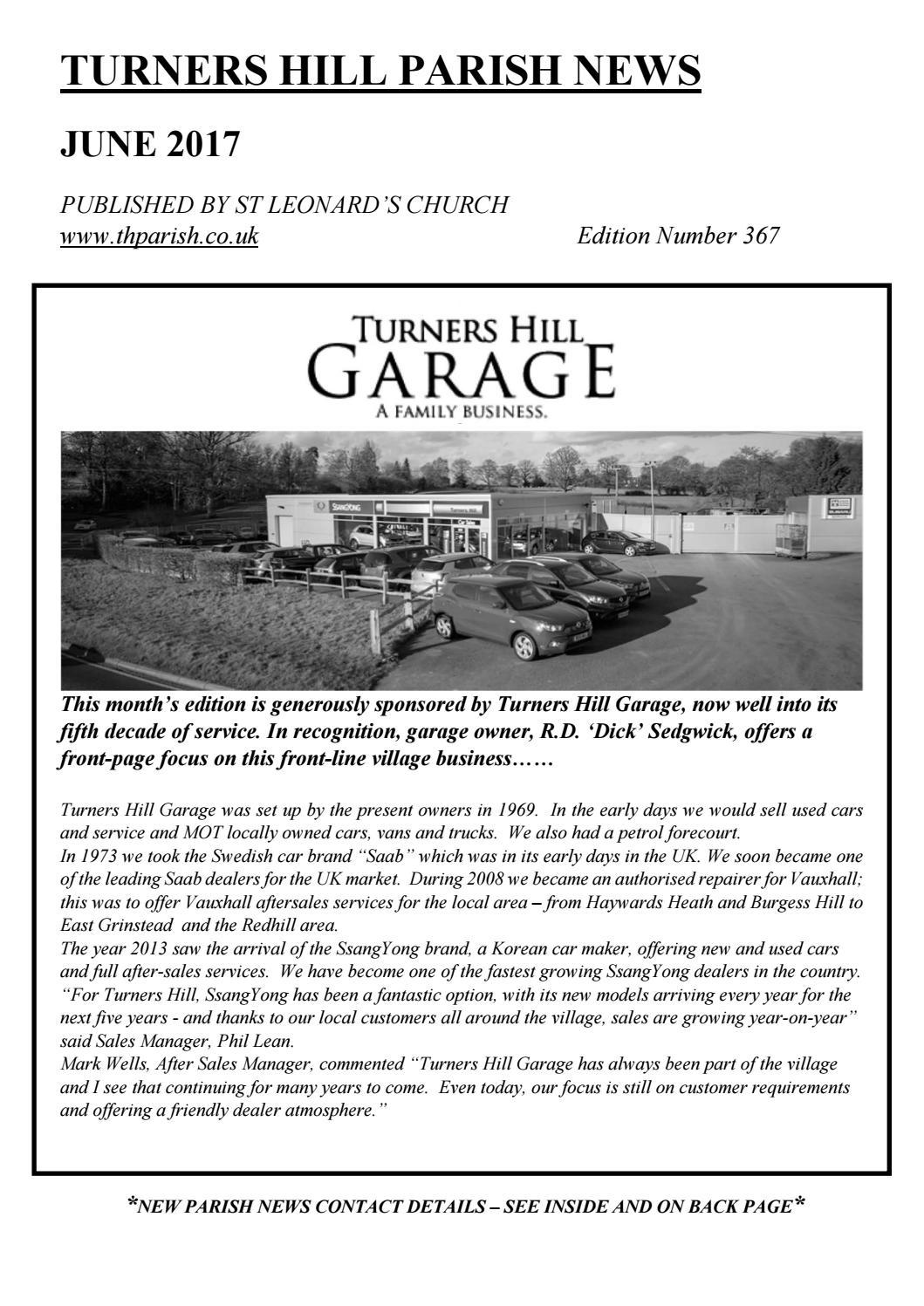 Parish News June 2017 By St Leonards Turners Hill