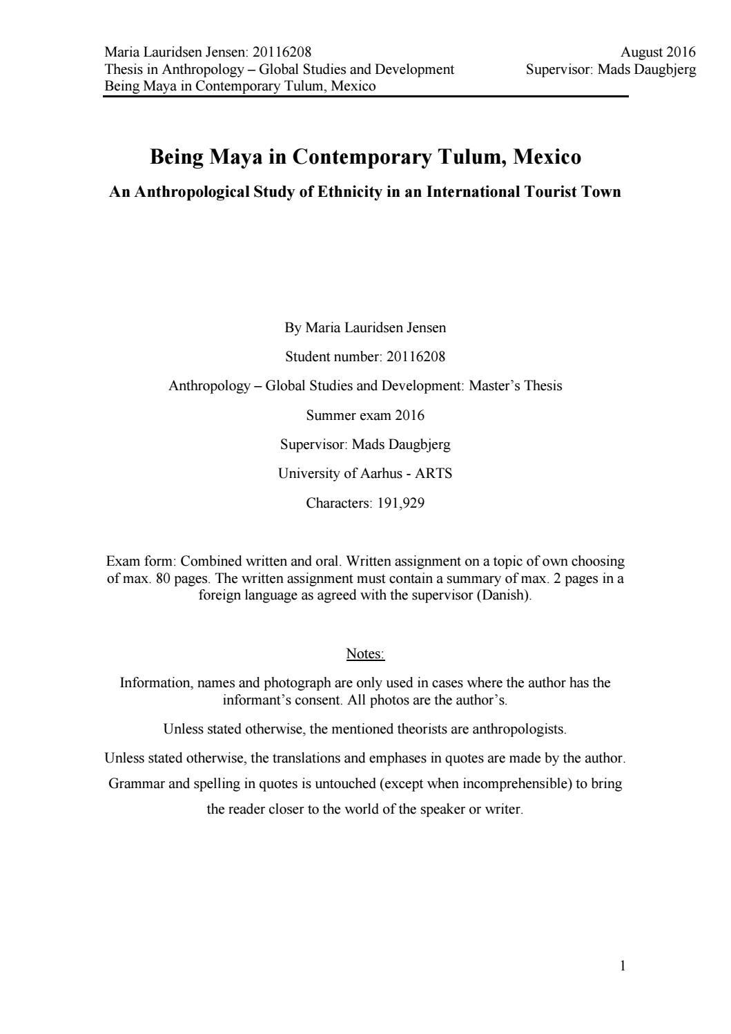 Custom thesis nav menu
