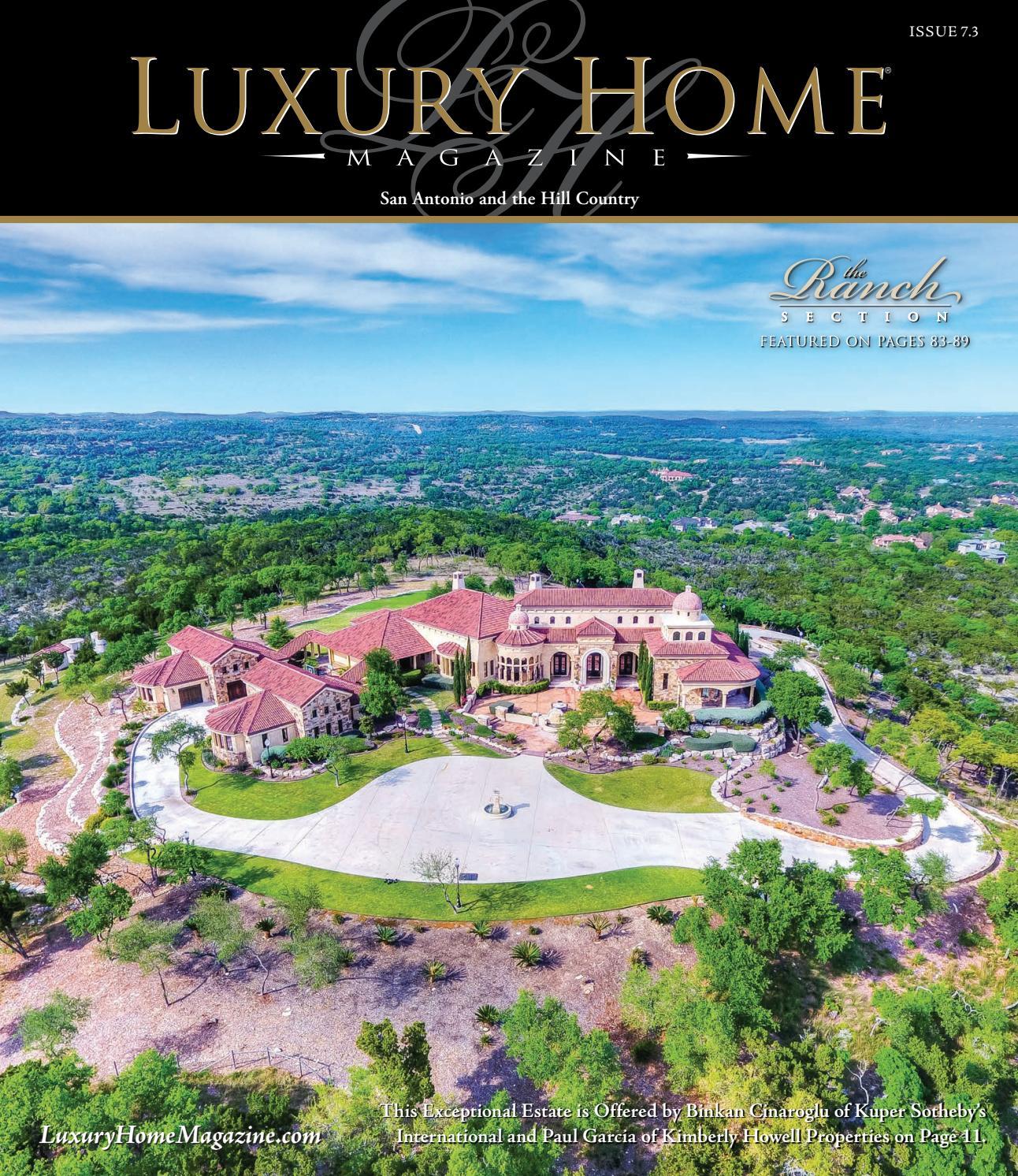 luxury home magazine san antonio issue 73 by luxury home