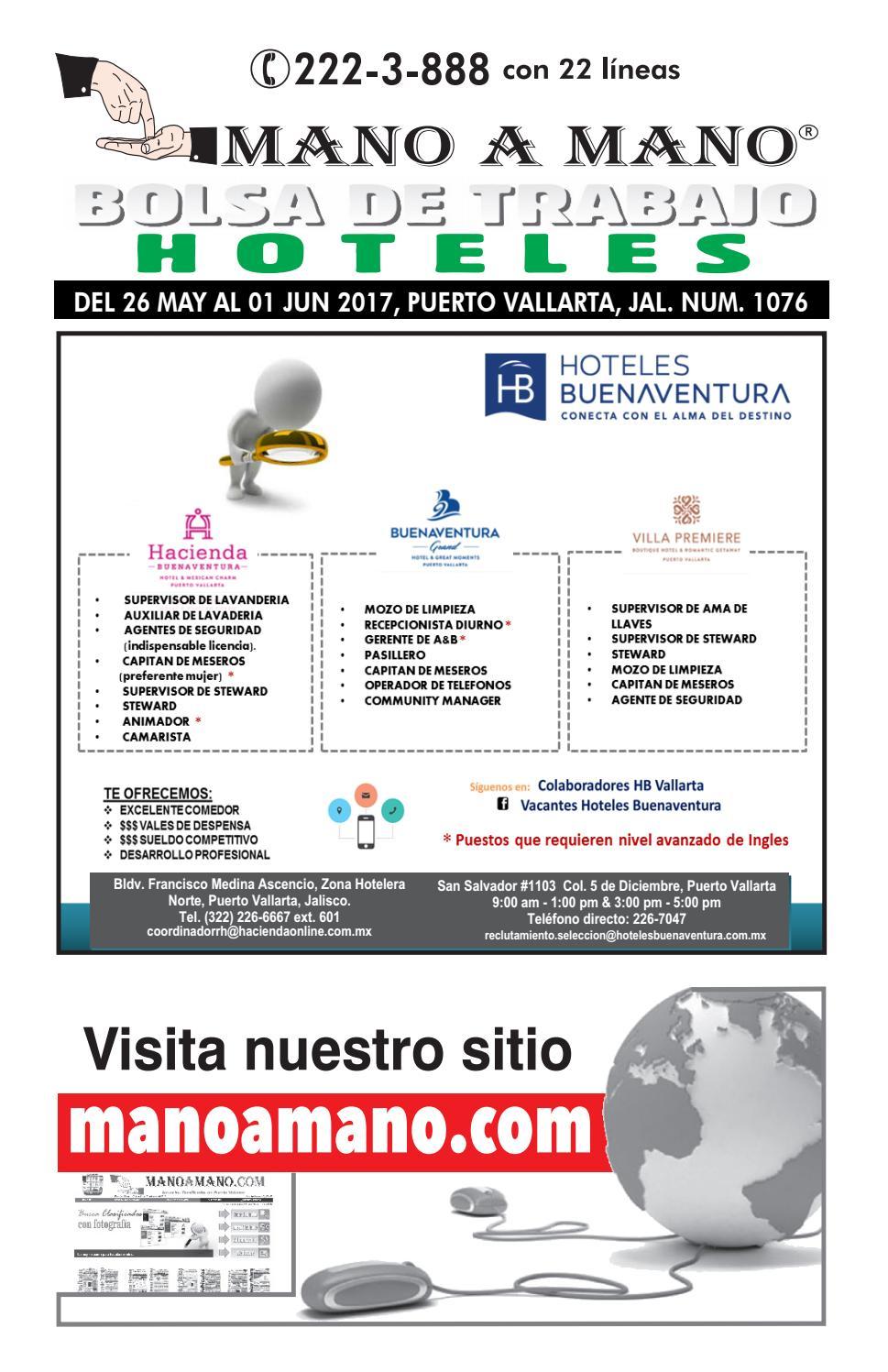 Bolsa trabajo hoteles 1076 by MANO A MANO - issuu