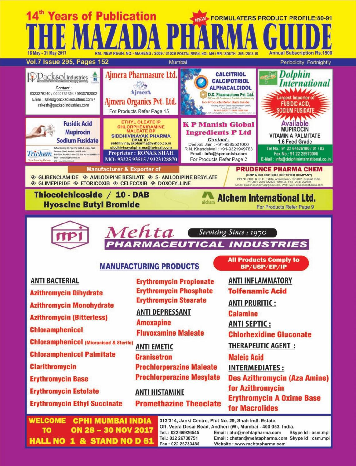 The Mazada Pharma Guide 16th to 31st May by The Mazada