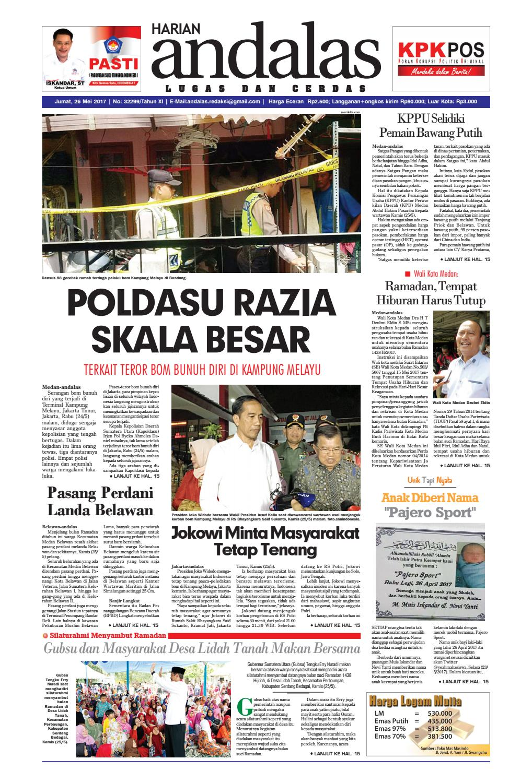 Epaper andalas edisi jumat 26 mei 2017 by media andalas - issuu 2f6950a1d8