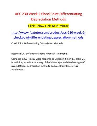 simplest depreciation method