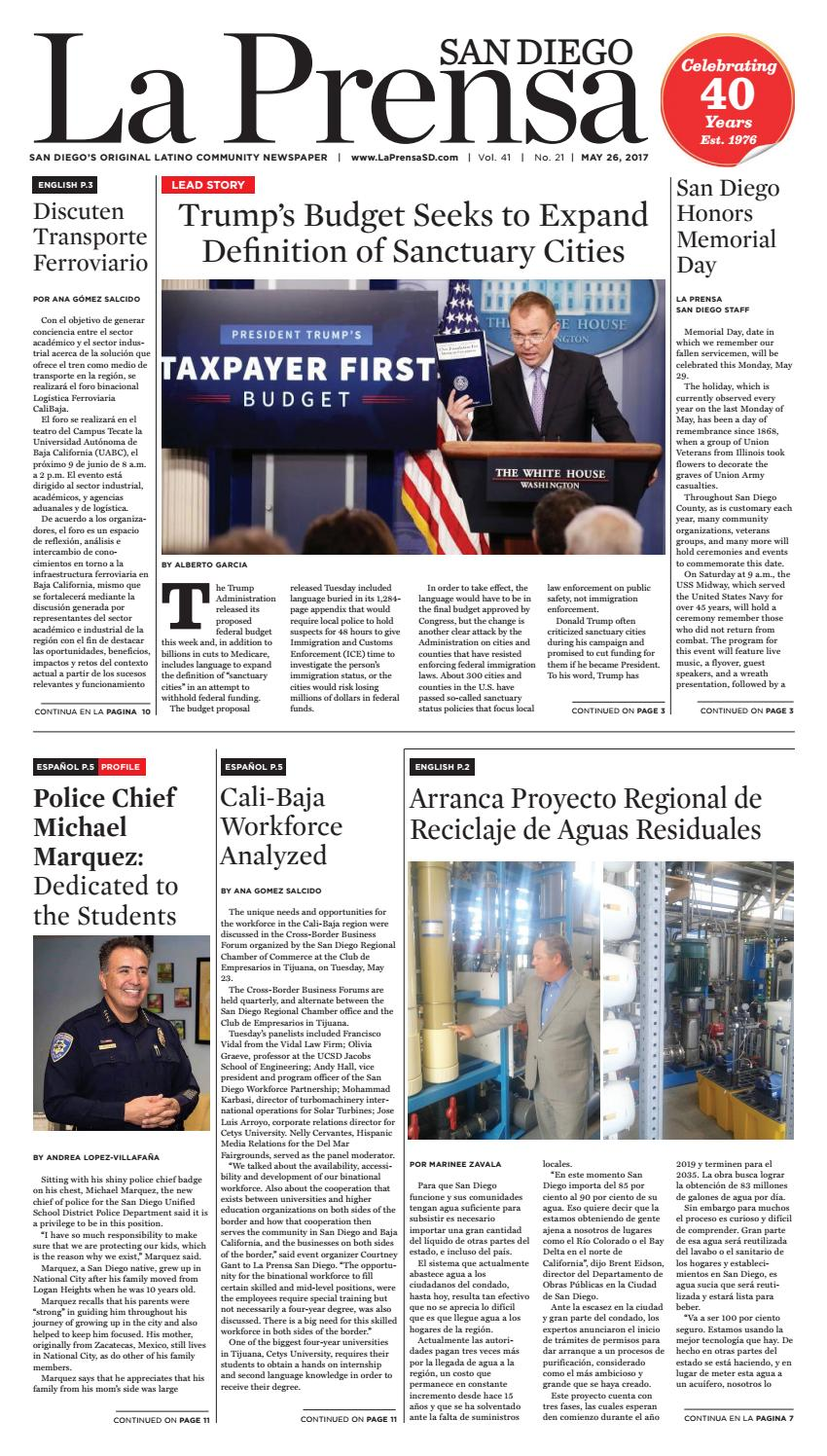 La Prensa San Diego - May 26, 2017 by La Prensa San Diego - issuu