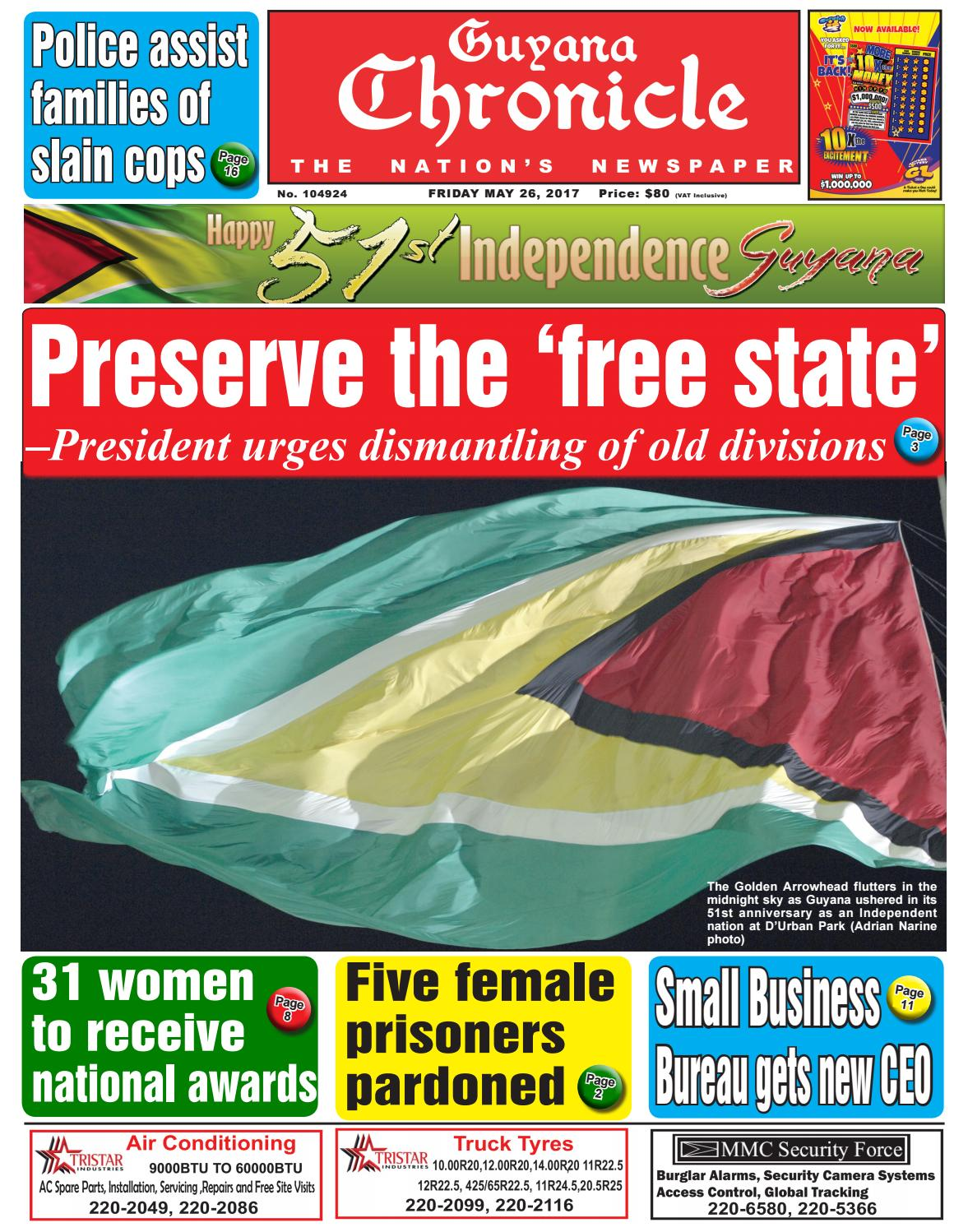 Guyana chronicle e paper 26 05 2017 by guyana chronicle e paper issuu nvjuhfo Image collections