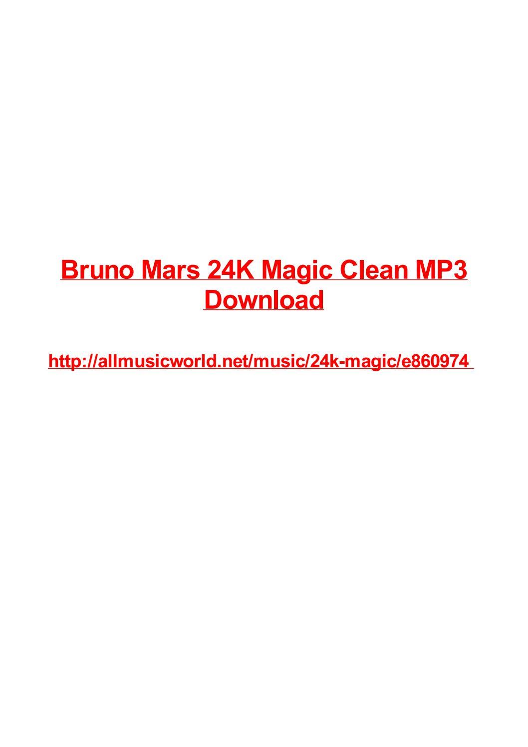 Bruno Mars 24k Magic Clean Mp3 Download By Vjollca Salinger Issuu