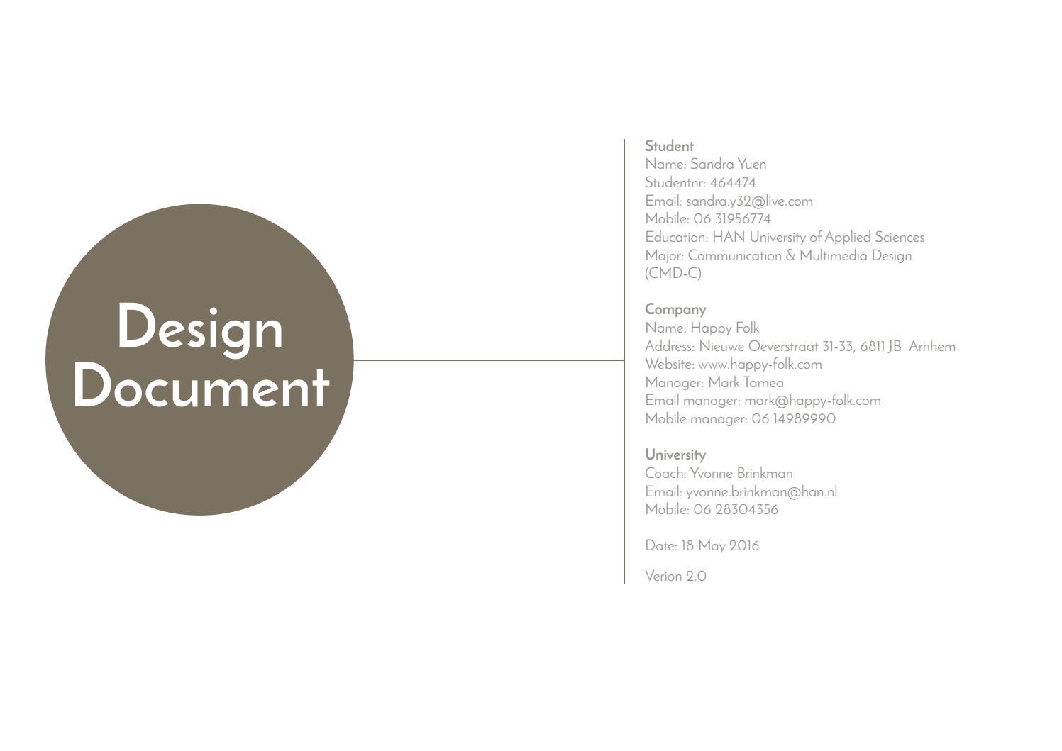 Design document by Sandra Yuen - issuu