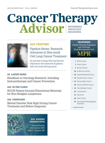 Cancer Therapy Advisor July/August 2016 Issue by Haymarket
