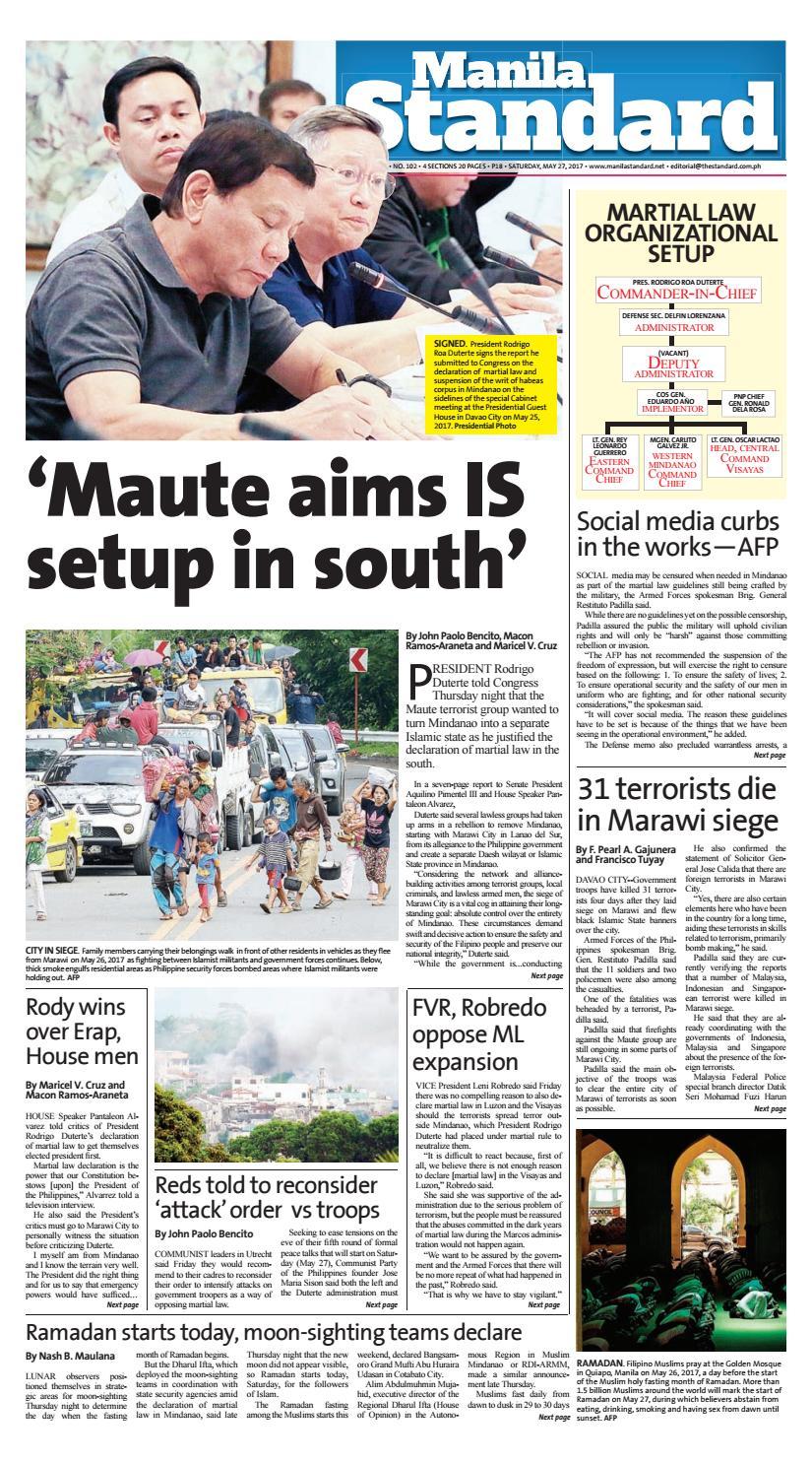 Manila Standard - 2017 May 27 - Saturday by Manila Standard