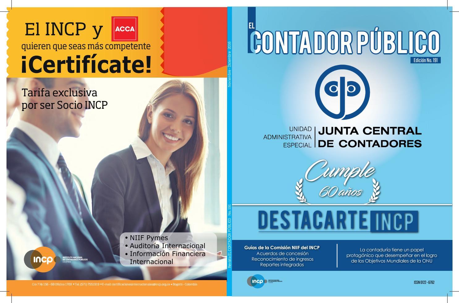 Revista El Contador Público No. 191 by INCP - issuu