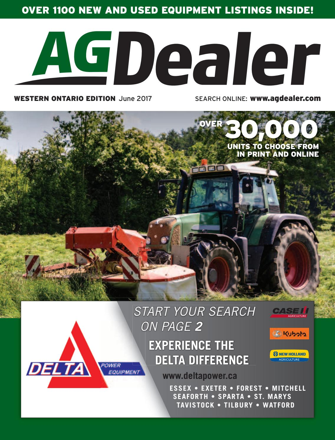 AGDealer Western Ontario Edition, June 2017 by Farm Business Communications  - issuu