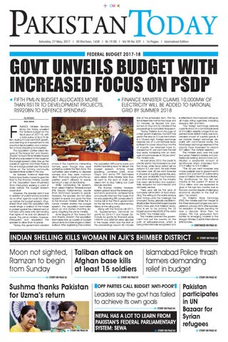 E paper pdf (27 05 2017) (isb) by Pakistan Today - issuu