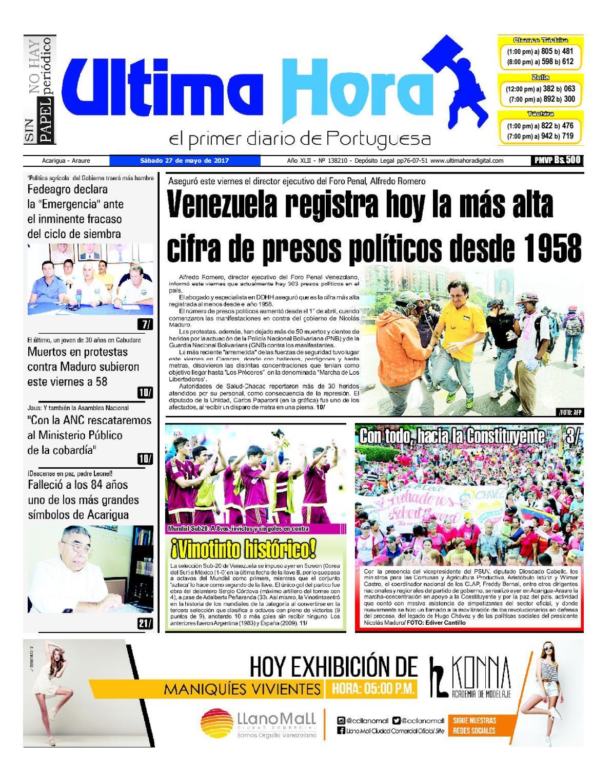 Edicion 27 05 2017 By Ultima Hora El Primer Diario De Portuguesa Issuu