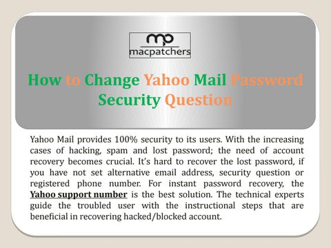 yahoo mail i forgot my password and security question