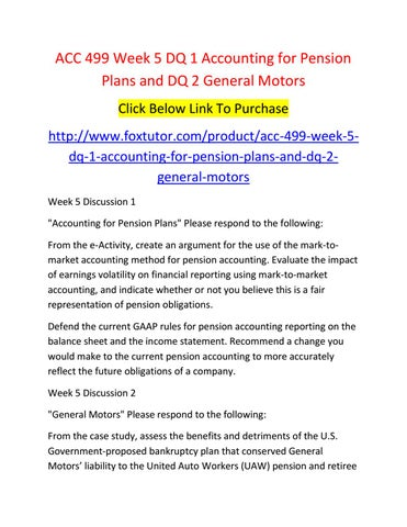 General motors income statement for General motors pension plan