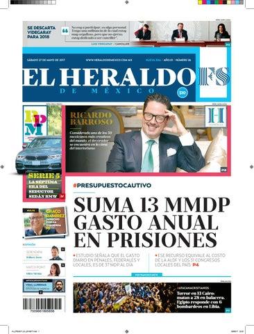 8f0d40e91 EDICIÓN IMPRESA 27 DE MAYO DE 2017 by El Heraldo de México - issuu