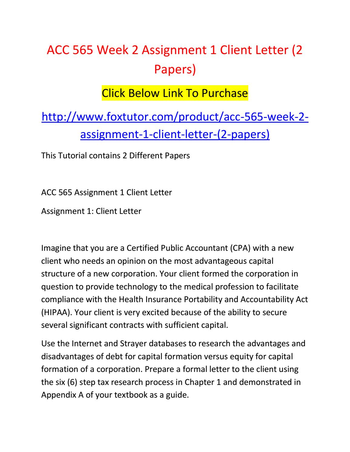 act 573 week 1 homework Acc 599 assignment 1 impact of the sarbanes-oxley act (sox) (strayer) by robirt carr acc 573 week 10 assignment 3 (strayer) by robirt carr acc 573 week 7 assignment 2 new strategies for financial reporting (strayer) by robirt carr.