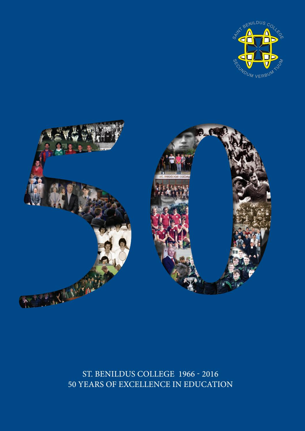 St  Benildus 50th Anniversary Yearbook by Niall Homan - issuu