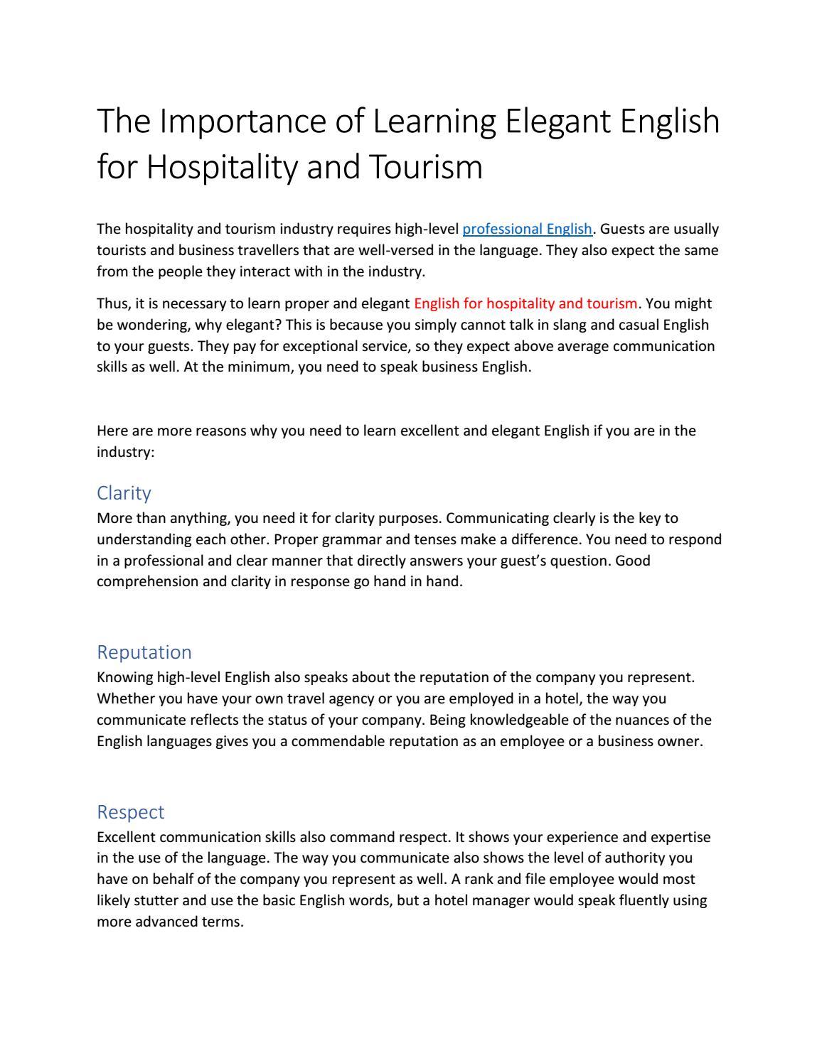 importance of english communication