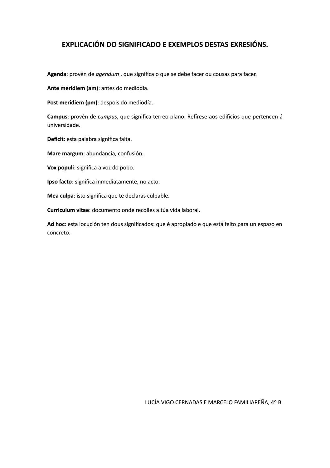 explicacin do significado e exemplos de uso by mara snchez manteiga issuu
