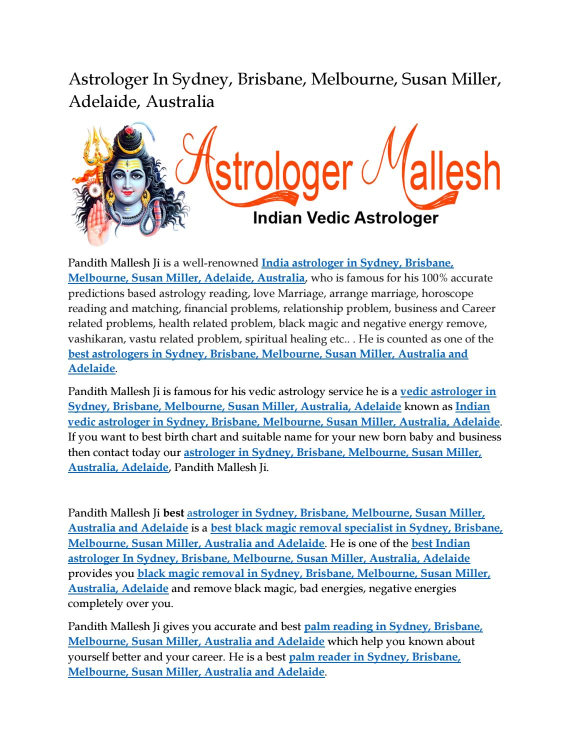Astrologer in sydney by astrologer pandith malles ji issuu nvjuhfo Images