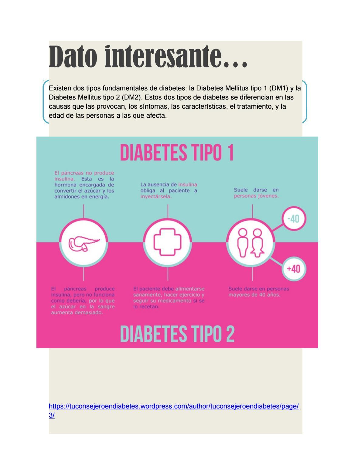 que tipos de diabetes mellitus hay
